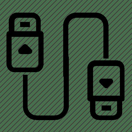 Cable, electronic, plug icon