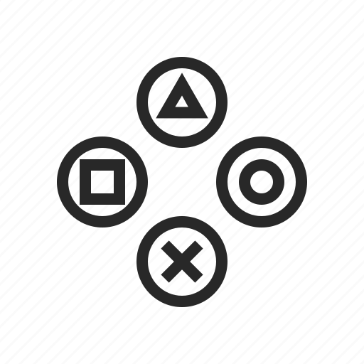 Buttons, controller, game, gamer, play, ps icon