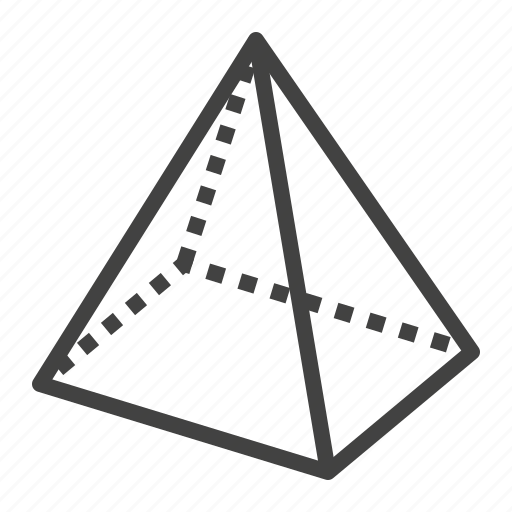 3d, geometry, pyramid, shape icon