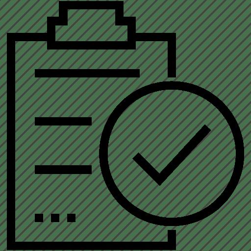 Checklist, clipboard, document, form icon