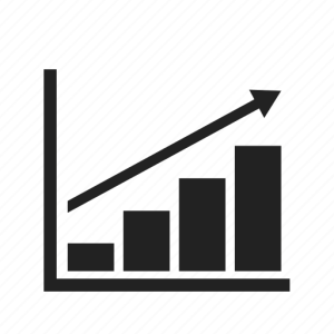 Arrow, business, chart, diagram, finance, up icon