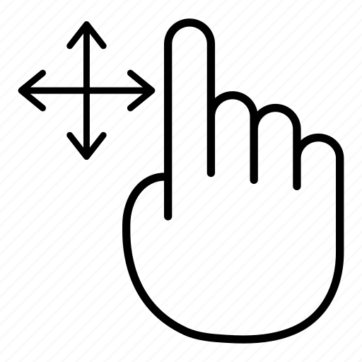 Drag, finger, gesture, hand, move, tap, touch icon