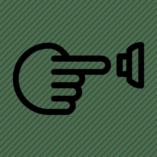 Door, doorbell, gesture, hand, press, ring, touch icon