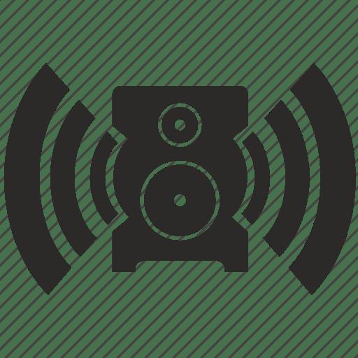 Audio music sound speaker icon