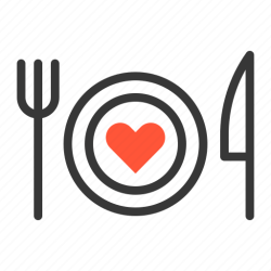 icon food dinner wedding favorite couple honeymoon heart dating icons editor open