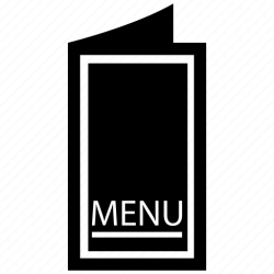 menu icon card jour carte restaurant fair fill icons hotel editor open