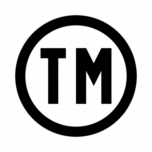 Copyright sign symbolism tm trademark icon