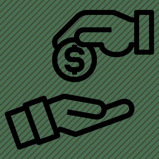 Business, finance, investment, money, solution, sponsor icon