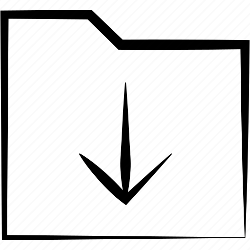 Arrow, down, download, downloading, files, folder, inbox icon