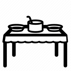 table icon dinner food lunch kitchen tablecloth soup icons editor open