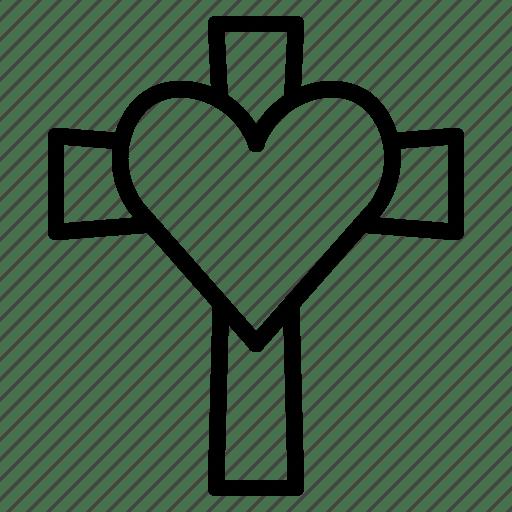 Download Christ, cross, heart, jesus, love, true, wedding icon