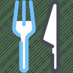 Cutlery restaurant restyk fork knife icon Download