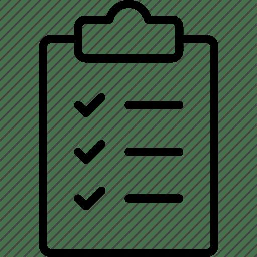 Checklist, notes, prescription, rules, tasks, todo icon