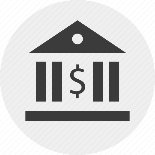 Banking, building, irs, law, money, tax icon