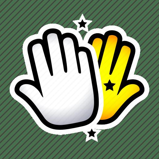 Clap. gesture. hand. hi5. signs. slap icon
