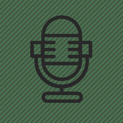 Microphone, recording, sound, studio icon