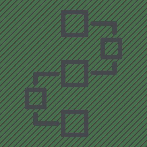 Diagram, logic, process icon