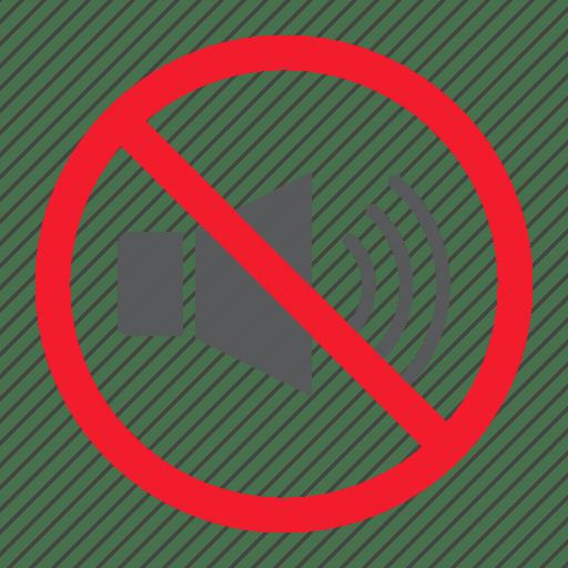 Ban forbidden no noise prohibition sound stop icon