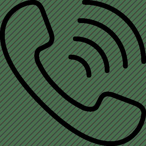 Call, handset, phone, radio, ring, wifi icon