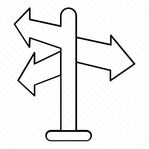 Direction, indication, navigation, road, sign, signpost icon