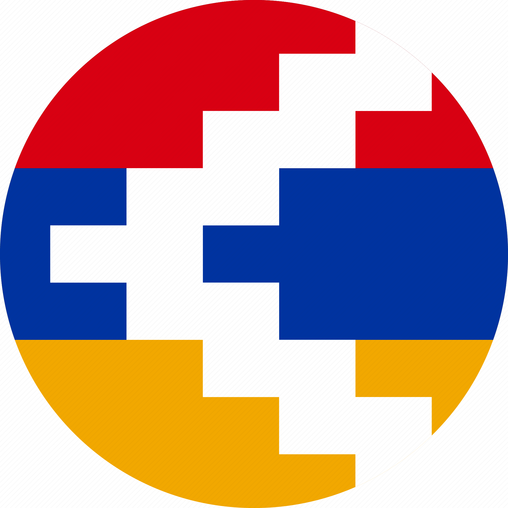 rounded flat country flag