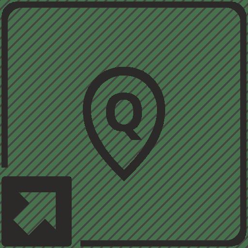 Letter, point, pointer, q, shortcut icon