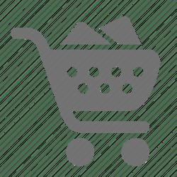 cart icon supermarket shopping retail check editor open