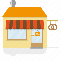 bakery icon building baker awning icons 512px