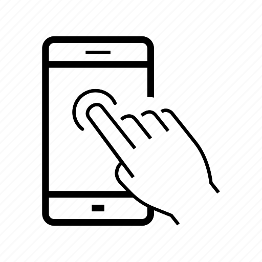Display, hand, mobile, screen, smartphone, tap, touch icon
