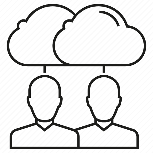 Cloud, collaboration, connection, network, people icon