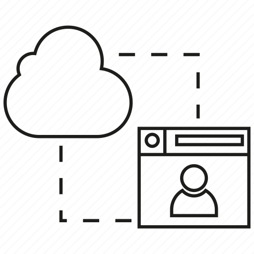 Cloud collaboration, cloud computing, network, sync, web icon