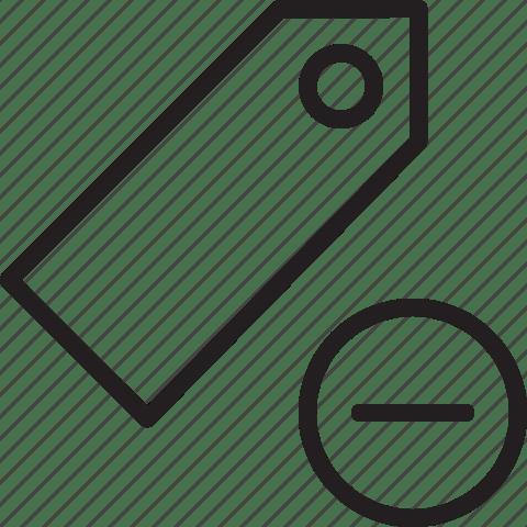 Bookmark, delete, favorite, remove, tag icon