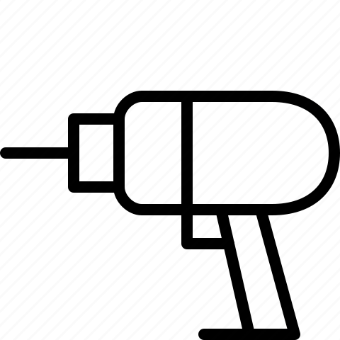 Drill, power tool icon