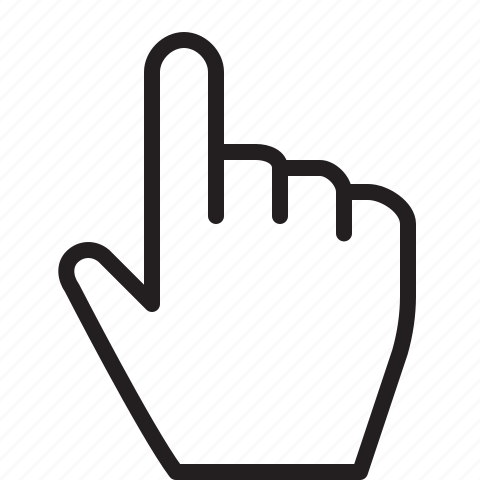 Gesture, hand, line, pointer, selection icon
