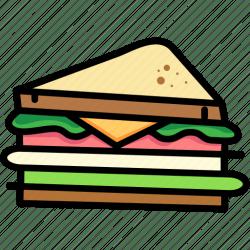 sandwich icon breakfast club bread food icons open drains editor