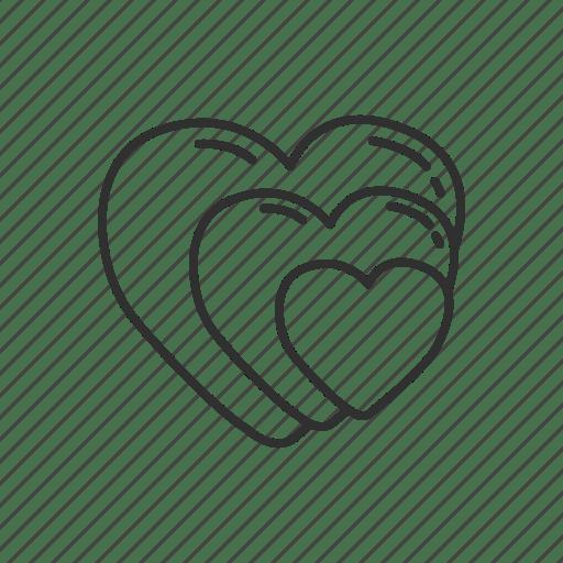 Download Couple, emoji, heart, hearts, love, triple hearts ...