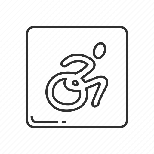 wheelchair emoji orange bucket swivel chair disabled symbol handicap accessable person with disability icon