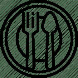 spoon menu food icon fork cuisine meal dinner editor open