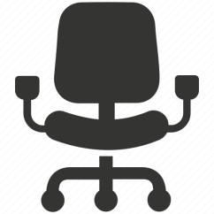 Revolving Chair For Office Big And Tall Dining Room Chairs Computer Desk Swivel Icon