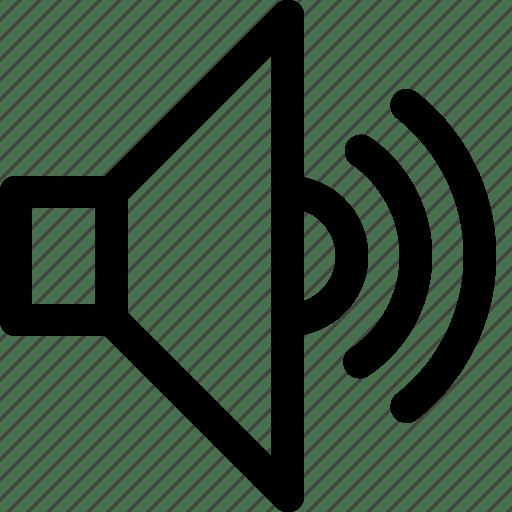 On sound speaker icon