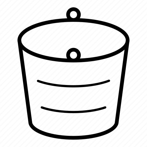Bucket, container, empty bucket, metal bucket, water