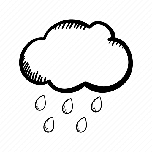 Cloud, hand drawn, rain, raindrops, sky, weather, weather
