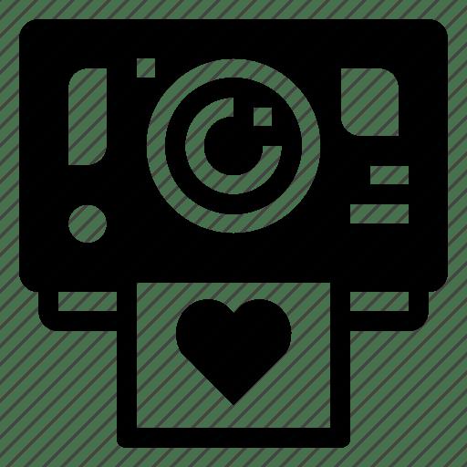 Download Camera, heart, love, photo, polaroid, wedding icon