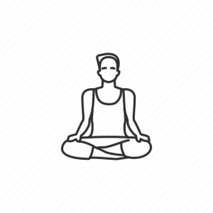 yoga easy drawing pose health icon poses exercise male icons