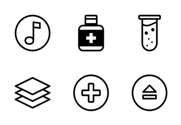 Laboratory test icons by spdesigner
