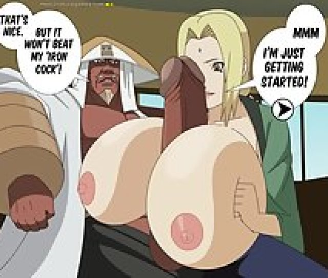 Tsunade Owes Money So She Sucks Off Two Bandits In The Woods