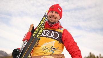 Ski race. Tour de Ski. Men Individual race