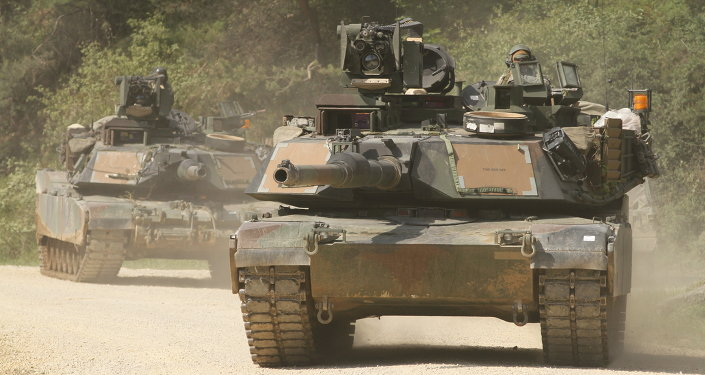 Abrams tanks with Company C, 2nd Battalion, 5th Cavalry Regiment, 1st Brigade Combat Team, 1st Cavalry Division