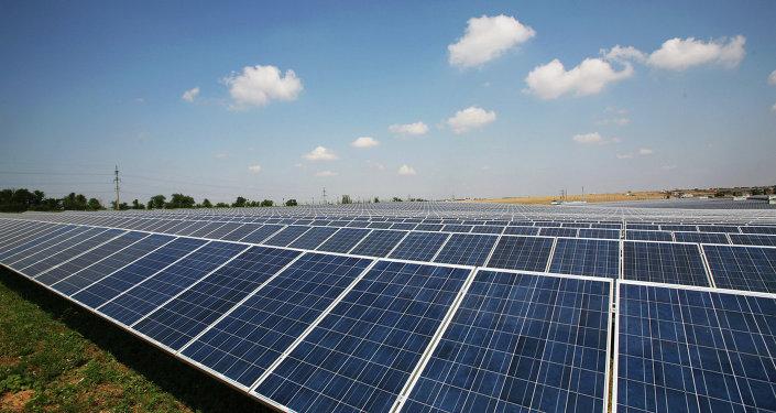 Solar power station in Crimea