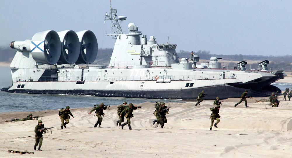 Landing party exercise in the Baltic fleet